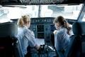 Lufthansa über den Wolken