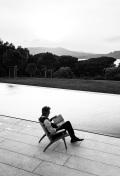Terrence Sheahan liest in Saint Tropez